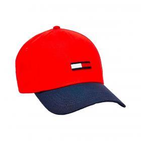 Cappello Tommy Jeans da baseball in cotone con bandierina unisex rif. AM0AM07170
