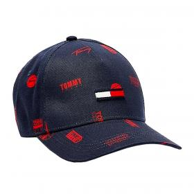 Cappello Tommy Jeans in cotone biologico con loghi unisex rif. AM0AM07171