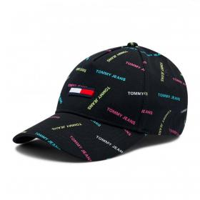 Cappello Tommy Jeans da baseball con loghi all over unisex rif. AW0AW09759