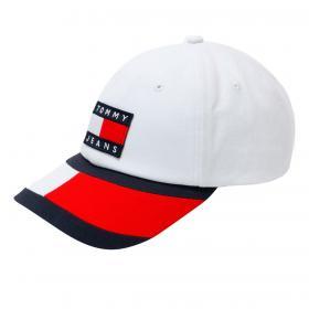 Cappello Tommy Jeans da baseball color block unisex rif. AW0AW09765