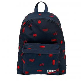 Zaino Tommy Jeans Campus con stampa logo all over rif. AM0AM07394