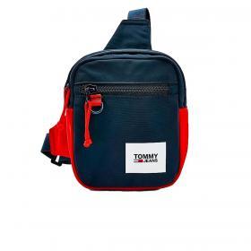 Borsa Tommy Jeans Essential stile pettorina color block unisex rif. AM0AM07401