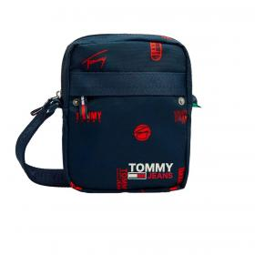 Borsello Tommy Jeans Reporter con logo all over unisex rif. AM0AM07393