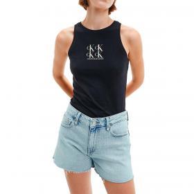 Canotta Calvin Klein Jeans con logo in cotone biologico da donna rif. J20J215604