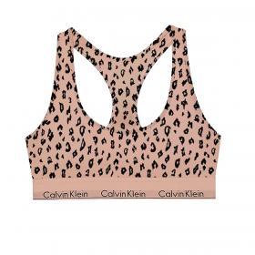 Bralette Calvin Klein Underwear modern cotton animalier da donna rif. 0000F3785E-JN6