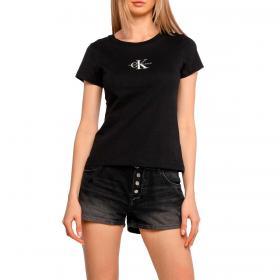 T-shirt Calvin Klein Jeans girocollo con stampa in cotone biologico da donna rif. J20J216577