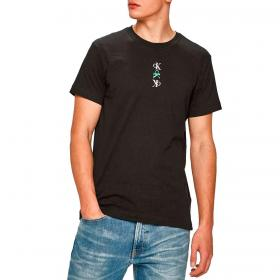T-shirt Calvin Klein Jeans slim in cotone biologico con logo da uomo rif. J30J318304