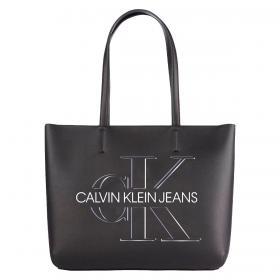 Borsa Calvin Klein Jeans tote in ecopelle con logo 3D da donna rif. K60K607647