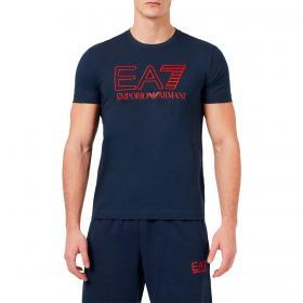 T-shirt Emporio Armani EA7 in jersey con stampa logo da uomo rif. 3KPT11 PJ02Z