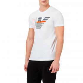 T-shirt Emporio Armani EA7 in cotone con aquila e logo da uomo rif. 3KPT22 PJ6EZ