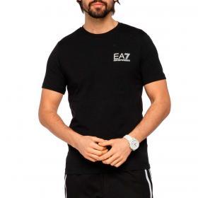 T-shirt Emporio Armani EA7 in jersey con logo a contrasto da uomo rif. 3KPT25 PJ3NZ