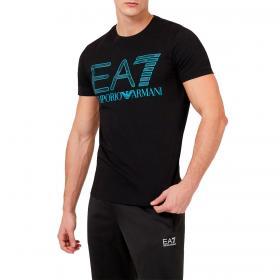 T-shirt Emporio Armani EA7 in jersey con maxi-logo camou da uomo rif. 3KPT27 PJ7CZ