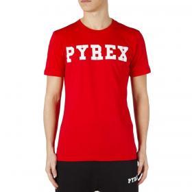 T-shirt Pyrex con stampa con logo sul petto da uomo rif. 20EPB34200