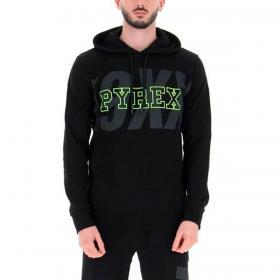 Felpa Pyrex con cappuccio regolabile e maxi stampa da uomo rif. 21EPB41935
