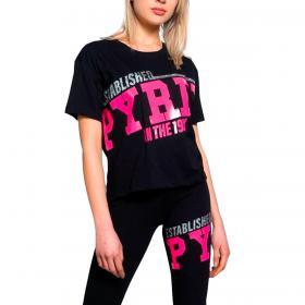 T-shirt Pyrex girocollo con maxi stampa glitter da donna rif. 21EPB42038