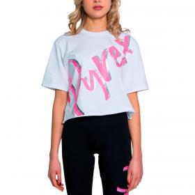 T-shirt Pyrex girocollo con maxi stampa centrale da donna rif. 21EPB42050