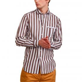 Camicia Outfit in cotone a righe regular fit da uomo rif. OF1S2S1C029