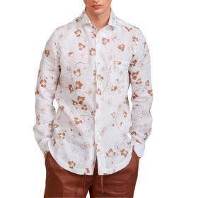 Camicia Outfit in lino con fantasia fiori da uomo rif. OF1S2S1C035