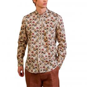Camicia Outfit con stampa e collo alla coreana da uomo rif. OF1S2S1C036