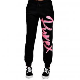 Pantaloni Pyrex in tuta con maxi stampa logo sulla gamba da donna rif. 21EPB42128