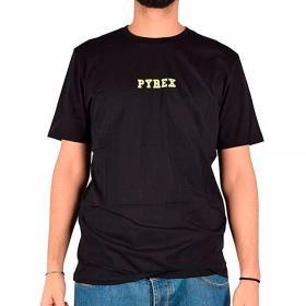 T-shirt Pyrex girocollo con logo e maxi stampa fluo sulla schiena da uomo rif. 21EPB42177