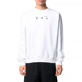 Felpa Off-White Bolt Cotton Sweatshirt da uomo rif. OMBA025S21FLE011