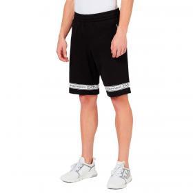 Shorts Emporio Armani EA7 in cotone con logo tape da uomo rif. 3KPS56 PJ05Z
