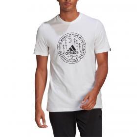 T-shirt Adidas Explore Nature girocollo con stampa da uomo rif. GL2690