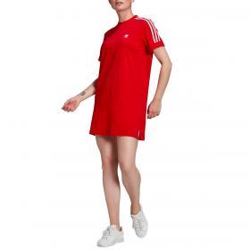 Abito Adidas Adicolor Classics Roll-Up Sleeve Tee con 3 strisce da donna rif. GN2778