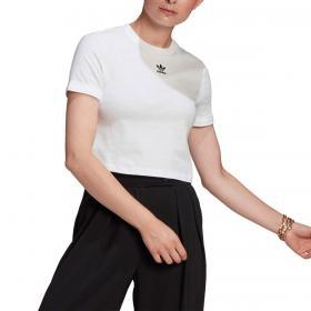 T-shirt Adidas Adicolor Classics Roll-Up Sleeve Crop con logo da donna rif. GN2803
