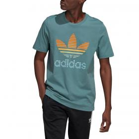 T-shirt Adidas Trefoil Ombré con stampa trifoglio da uomo rif. GP0164