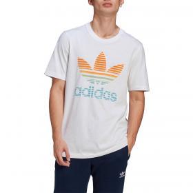 T-shirt Adidas Trefoil Ombré con stampa trifoglio da uomo rif. GP0165