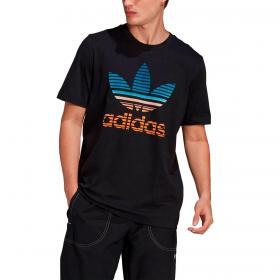 T-shirt Adidas Trefoil Ombré con stampa trifoglio da uomo rif. GP0166