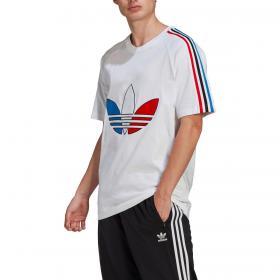 T-shirt Adidas Adicolor Tricolor con trifoglio da uomo rif. GQ8921