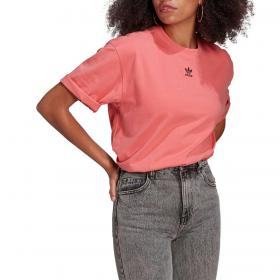 T-shirt Adidas Loungewear adicolor essentials con mini logo da donna rif. H13877