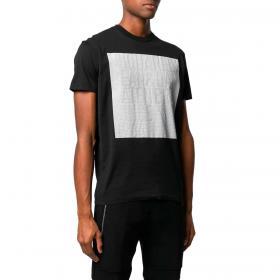 T-shirt Dsquared2 Logo Striped Square con blocco stampa da uomo rif. S74GD0646 S22427