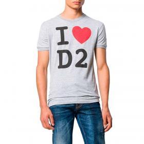 T-shirt Dsquared2 Love D2 con stampa da uomo rif. S74GD0670 S22146
