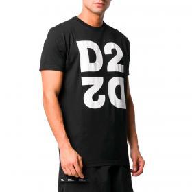 T-shirt Dsquared2 Logo Printed D2 con maxi stampa da uomo rif. S74GD0704 S22427