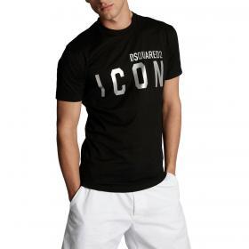 T-shirt Dsquared2 Reflective Icon con stampa da uomo rif. S79GC0019 S23009