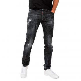 Jeans Dsquared2 Cool Guy Denim Black 5 tasche da uomo rif. S74LB0698 S30357