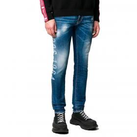 Jeans Dsquared2 Stenciled-print skinny da uomo rif. S74LB0757 S30342