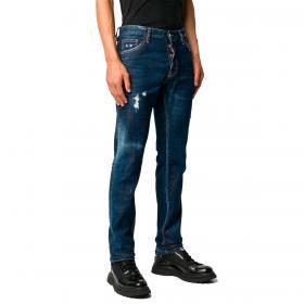 Jeans Dsquared2 slim fit effetto consumato da uomo rif. S71LB0790 S30342