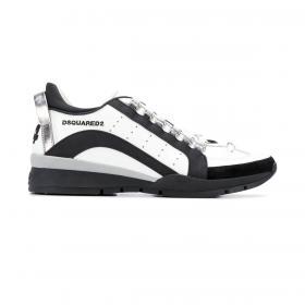 Scarpe Sneakers Dsquared2 High Sole Rombi in pelle da uomo rif. SNM0505 065B0001