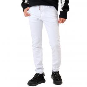Jeans Dsquared2 White Bull Wash Skater Jean da uomo rif. S71LB0811 S39871