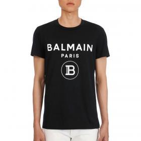 T-shirt Balmain Paris in cotone con logo da uomo rif. VH0EF000 B029