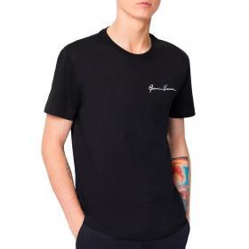 T-shirt Versace con ricamo GV signature da uomo rif. A84828 A22806