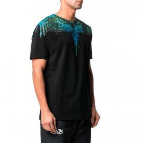T-shirt Marcelo Burlon Wings con ali stampate da uomo rif. CMAA018R21JER001