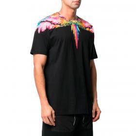 T-shirt Marcelo Burlon Colordust Wings con stampa multicolore da uomo rif. CMAA018R21JER002