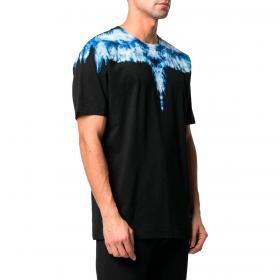T-shirt Marcelo Burlon Smoke Wings con stampa da uomo rif. CMAA018R21JER003