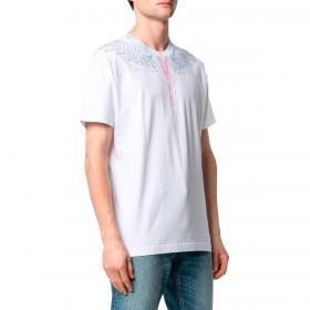 T-shirt Marcelo Burlon Bezier Wings con stampa da uomo rif. CMAA018R21JER004
